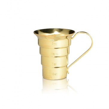 Stepped Jigger (oz) - Gold-Plated
