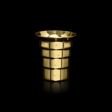 Stepped Jigger, No Handle (oz) - Gold-Plated